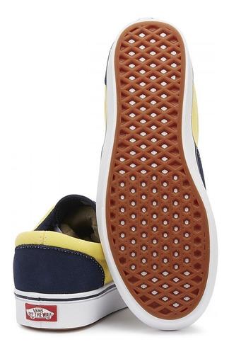 tenis vans comfycush era azul amarillo skate sneakers