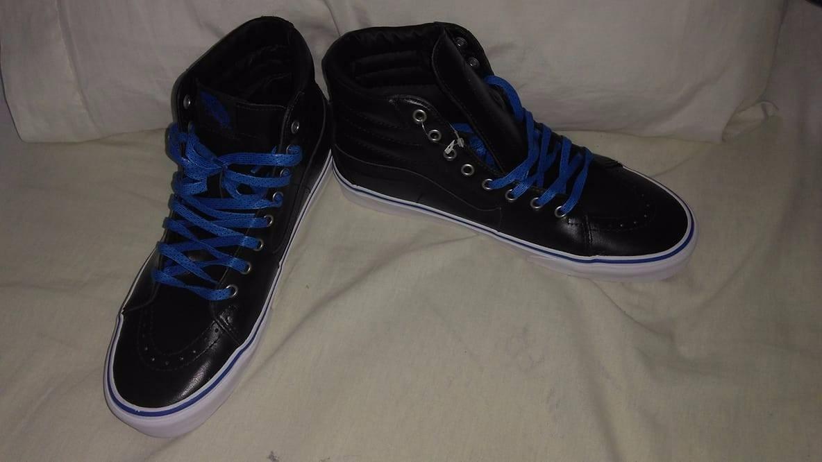 Tenis Vans Imperial Blue En Bota Negra -   600.00 en Mercado Libre ae59518ef11