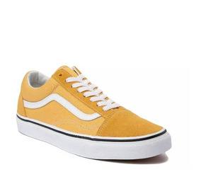 9dc9e1dc6 Tenis Vans Mod. 497201 Old Skool Chex Skate Yellow Unisex  J