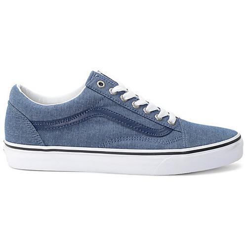 tenis vans old skool azul mezclilla skateboarding casual