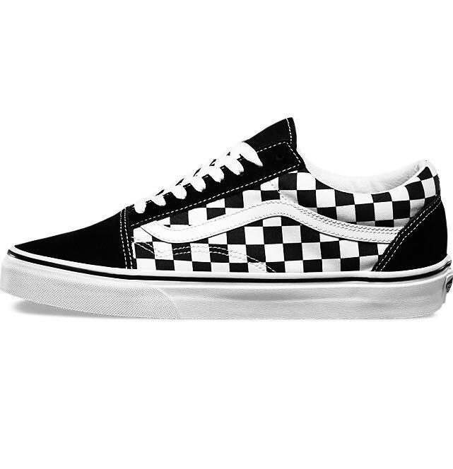 Tenis Vans Old Skool Checkerboard Black   White Unisex -   1 919788b3ee9cb