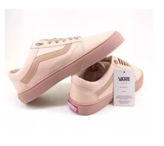 bb4ceb2e8fc04 Tenis Vans Old Skool Feminino Rose Nude Fotos Originais - R  208