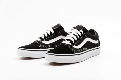 tenis vans old skool negro / blanco