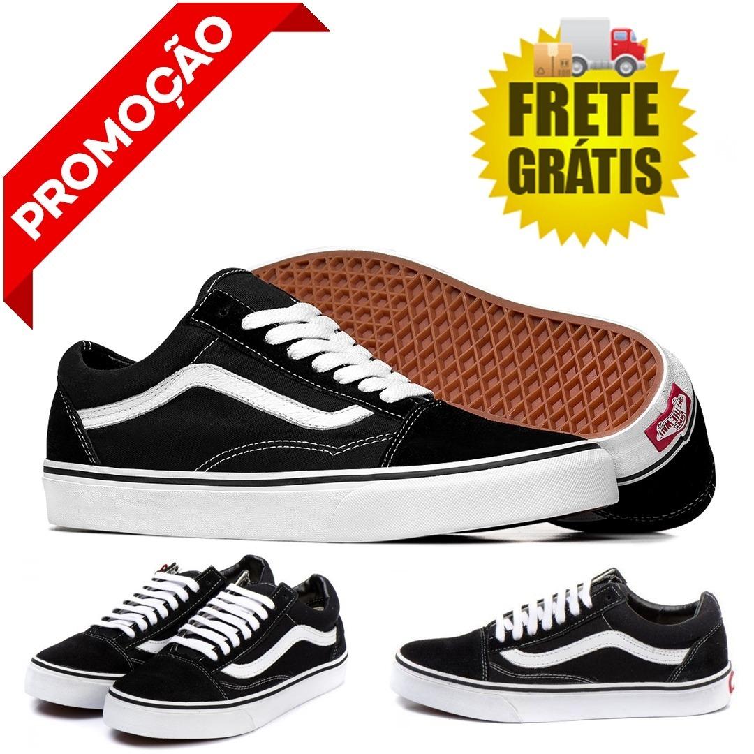 9c26848b93 Tenis Vans Old Skool Preto E Branco Unissex Barato - R  139