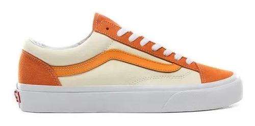 Tenis Vans Old Skool Retro Sport Style 36 Naranja Beige Hombre Original
