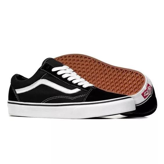ddd5014526 Tenis Vans Sapato Old Skol Feminino Masculino Promoção - R  120