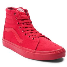 zapatos vans rojos niña