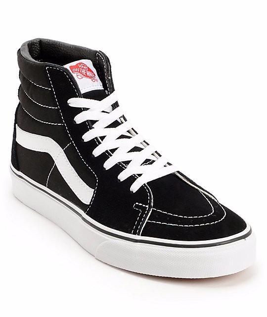 Tenis Vans Sk8 - Hi Skate Original Negro  Negro  Blanco -   1 9f12d8e60eb51
