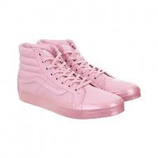 fc47e231e6240e Tenis Vans Sk8 Hi Slim Metallic Glitter Silver Pink -   1