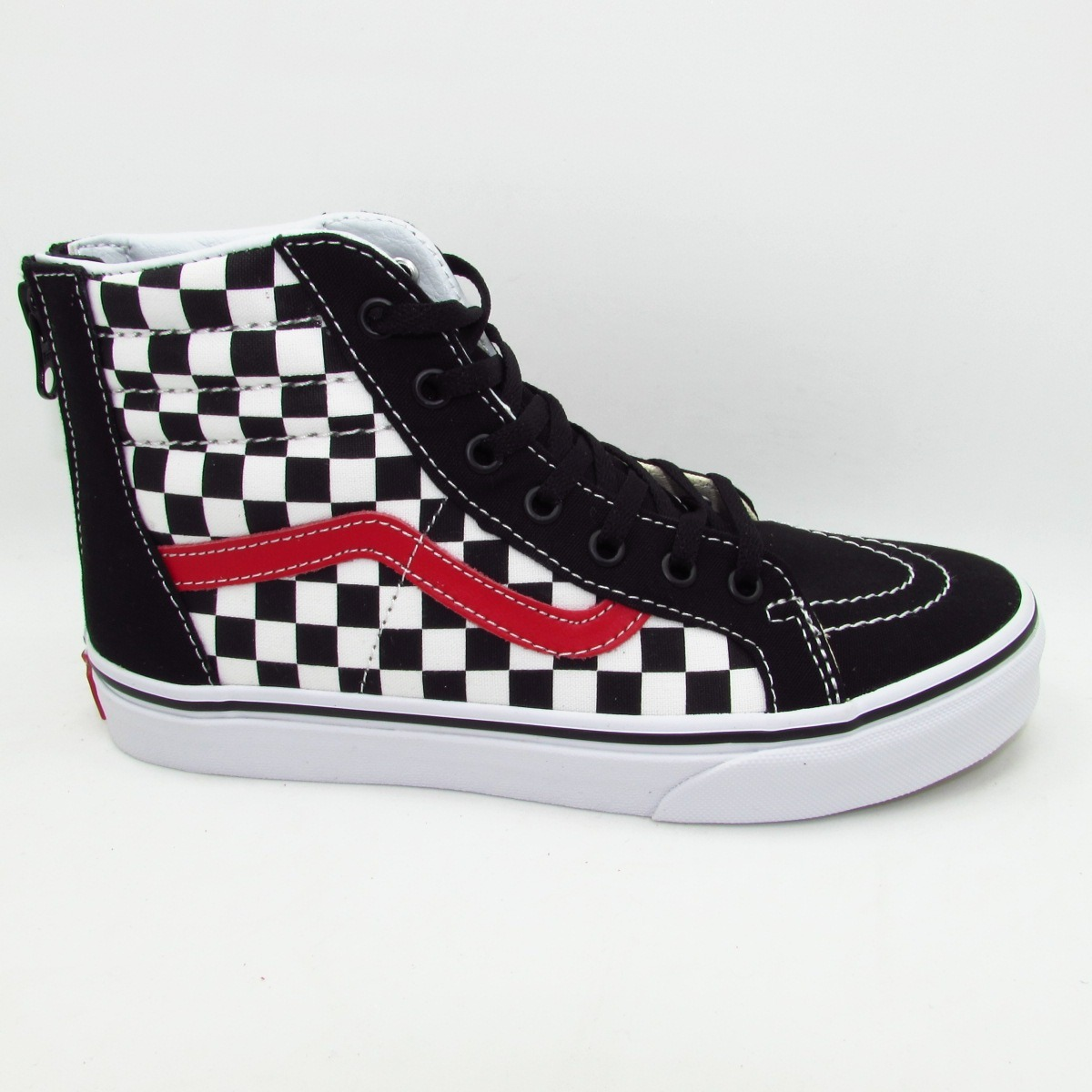 086e776371 tenis vans sk8 hi zip vn0a3276u3z checkerboard black red. Cargando zoom.