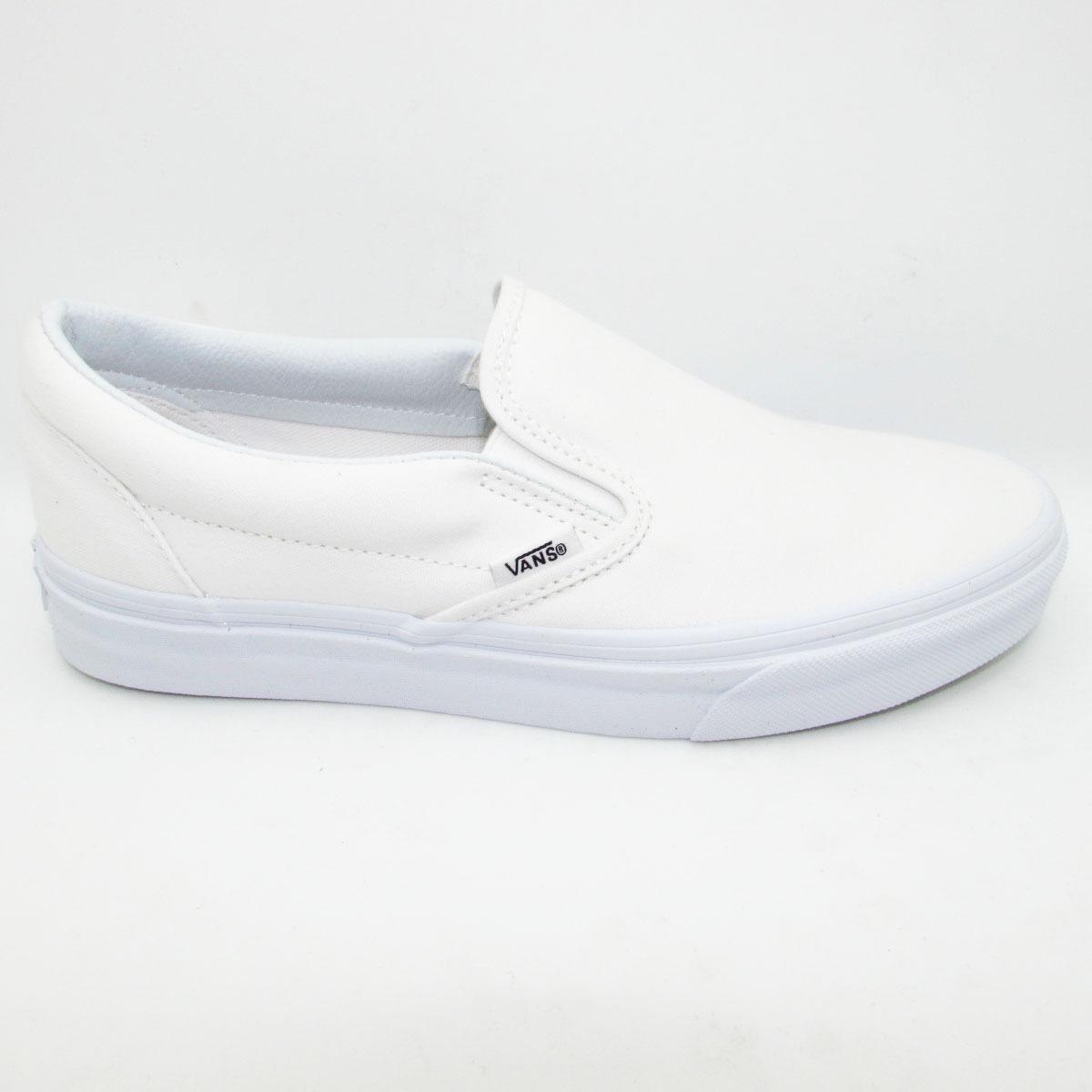Tenis Vans Slip On Classic Vn-0eyew00 White Blanco Unisex -   799.00 ... 117dd89494b