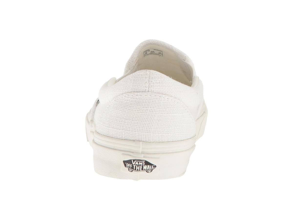 a8a724d82c Tenis Vans Slip On Todo Blanco Classic Lino Unisex Old Skool ...