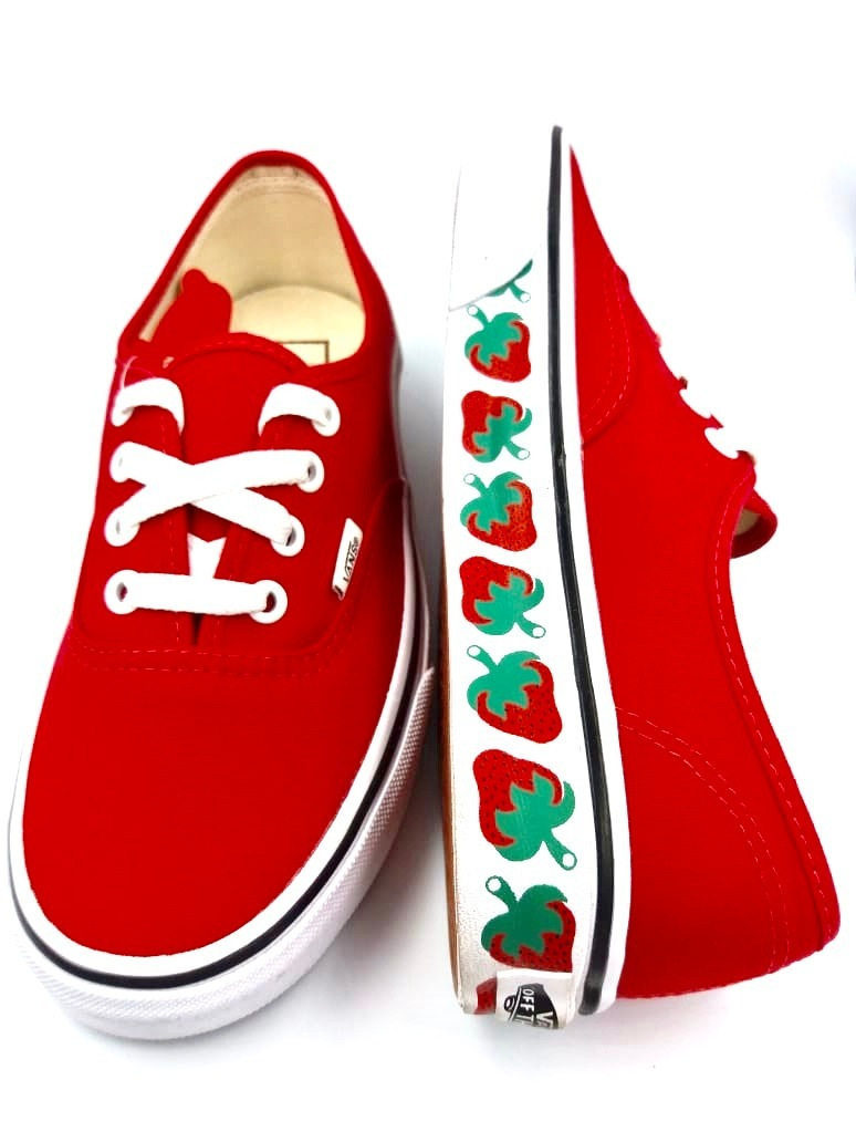 tenis vans unisex rojos fresas skate textil nuevos remate. Cargando zoom. b9600dc93c6