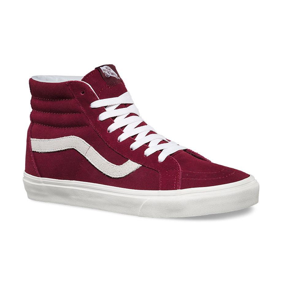 vans bota roja