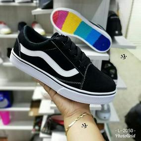 35279e1068d Zapatos Negros Con Linea Blanca - Tenis Vans para Hombre en Mercado ...