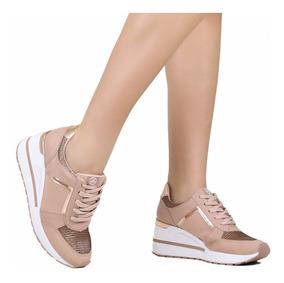 538a326ce Tenis Dourado Feminino Via Marte - Calçados, Roupas e Bolsas com o ...