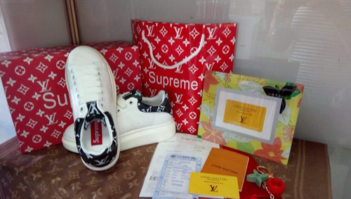 tenis vuitton supreme