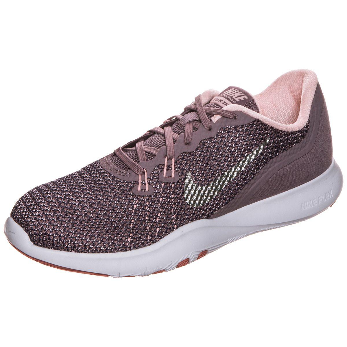 954702fff3507 ... get tenis w nike flex trainer gris rosa mujer 100 original. cargando  zoom. e628f