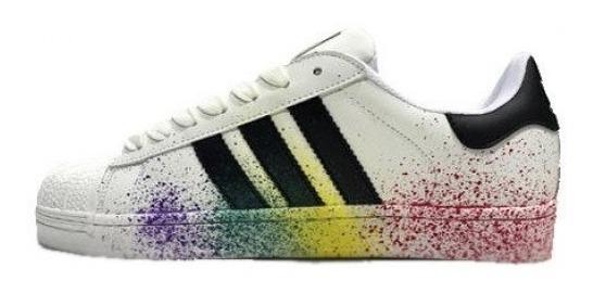 Tenis Zapatilla adidas Superstar Rainbow Originales Dama