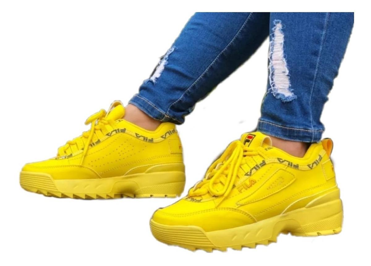 Zapatillas Reebok Hombre Amarillas Fila en Mercado Libre