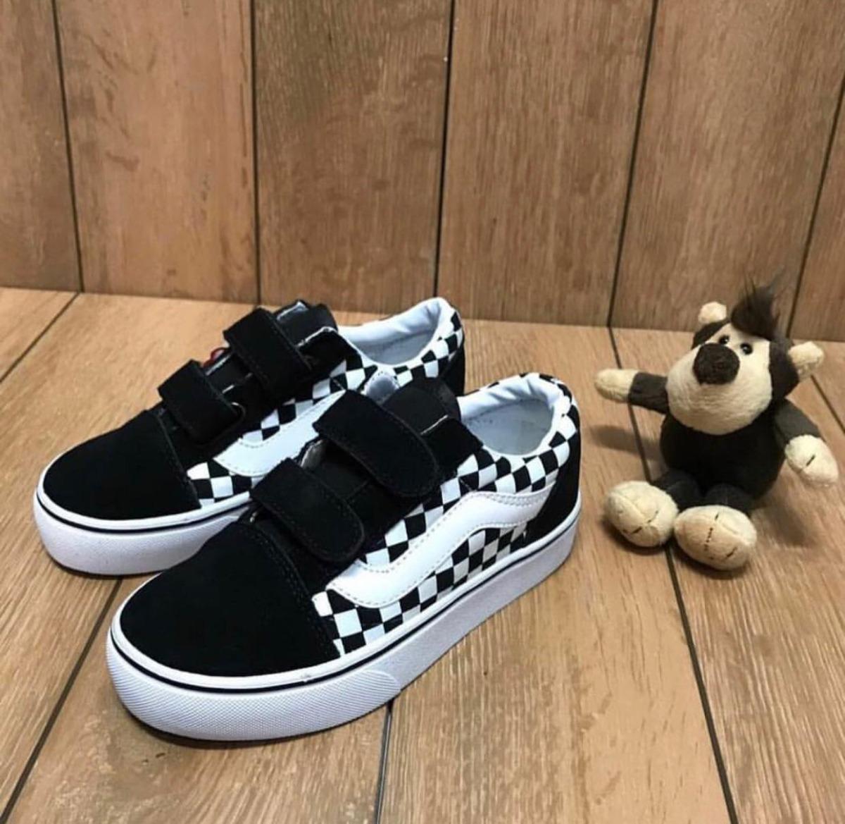 zapatillas vans velcro niños