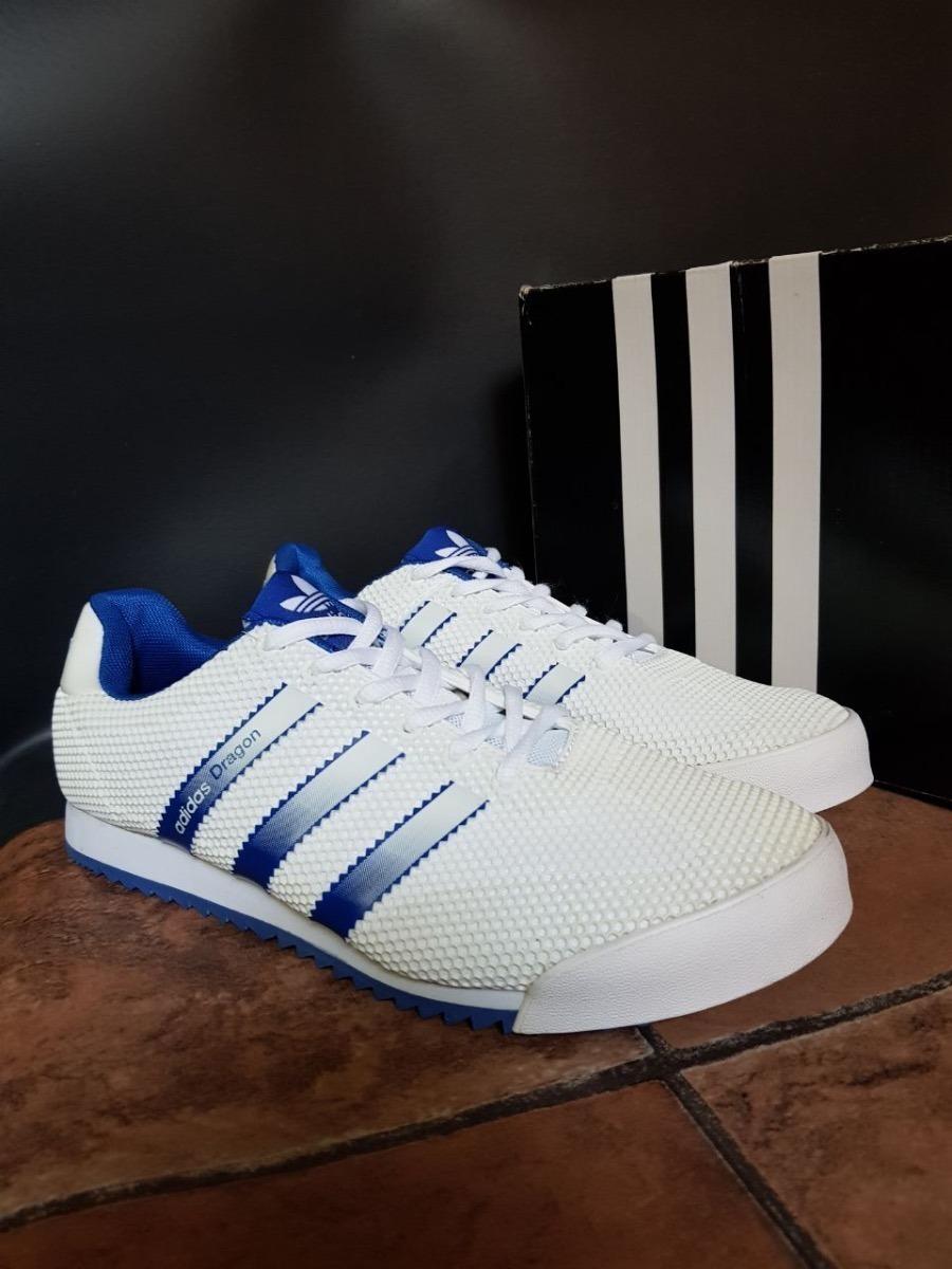 Tenis Zapatillas adidas Dragon Azul Blanca Hombre Env G