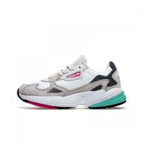 Tenis Zapatillas adidas Falcon Gris Dama + Obsequio