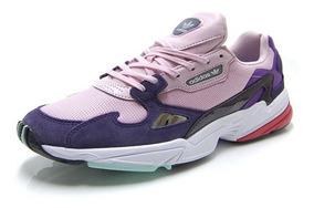 Tenis Zapatillas adidas Falcon Purple Dama + Obsequio