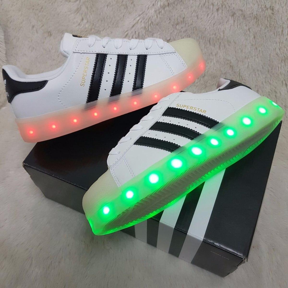 Superstar Zapatillas Tenis Caballero Y Led Dama Luces Adidas strxhBCQd
