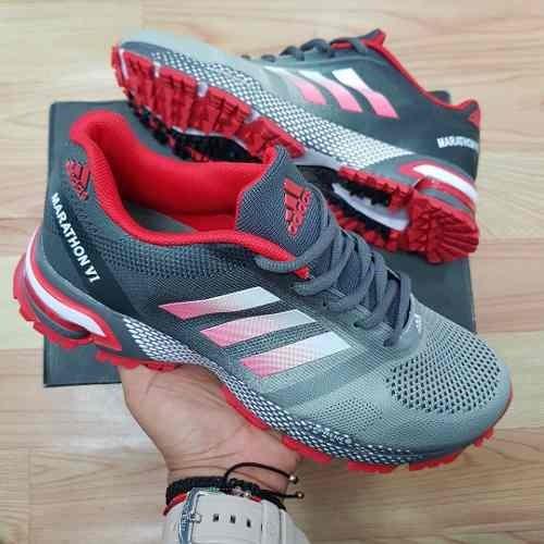 Tenis Zapatillas adidas Marathon Negra Verde Hombre Env Gr ... 8b812ad6385ba