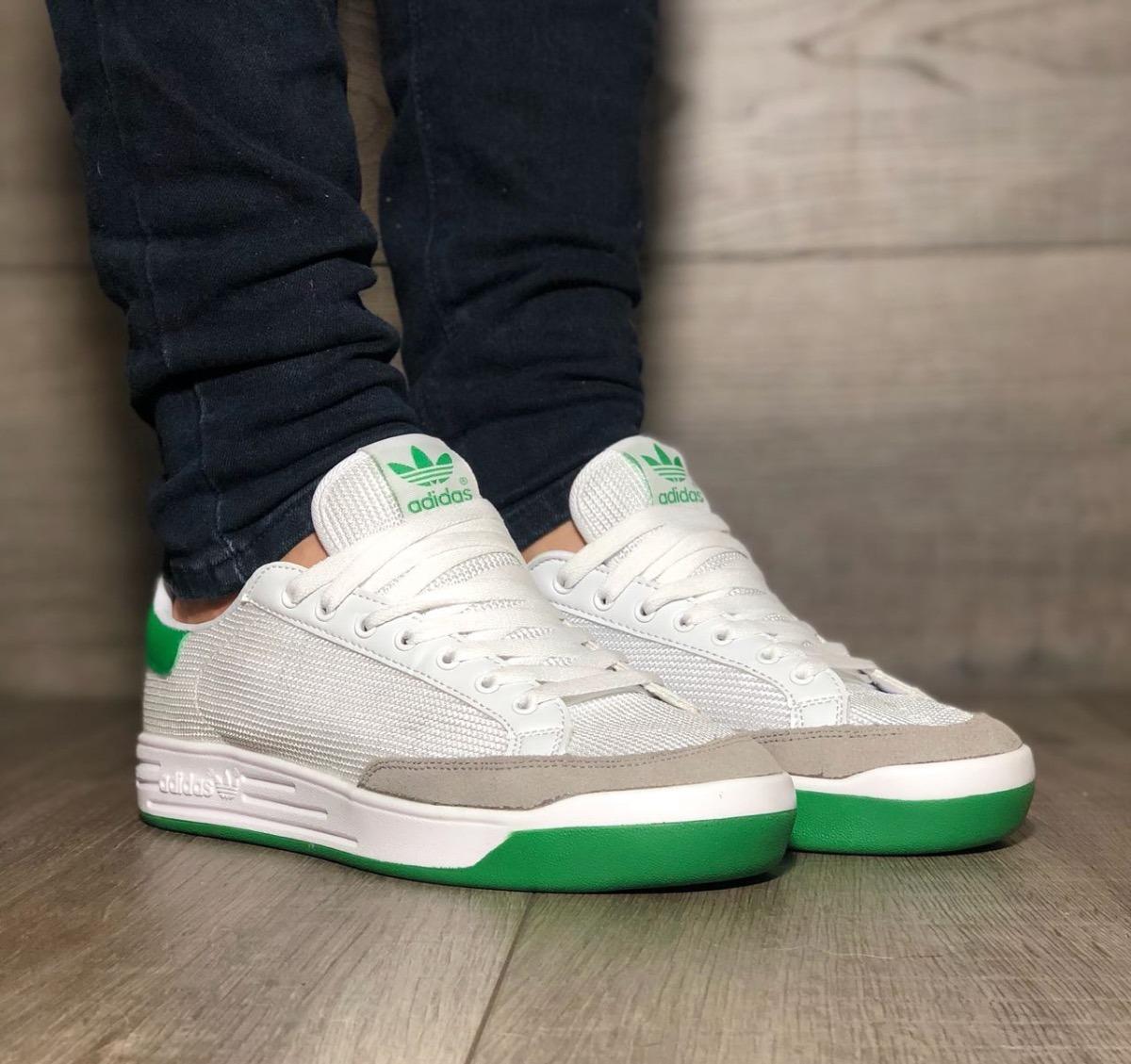 zapatillas adidas hombre verdes y blancas
