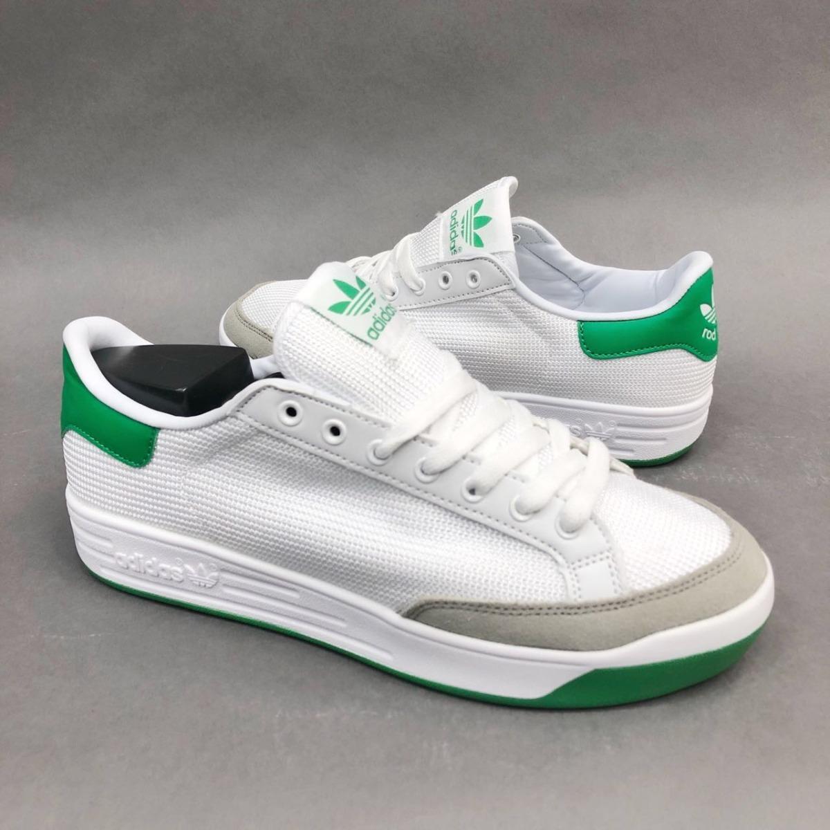 zapatillas adidas blancas con verde