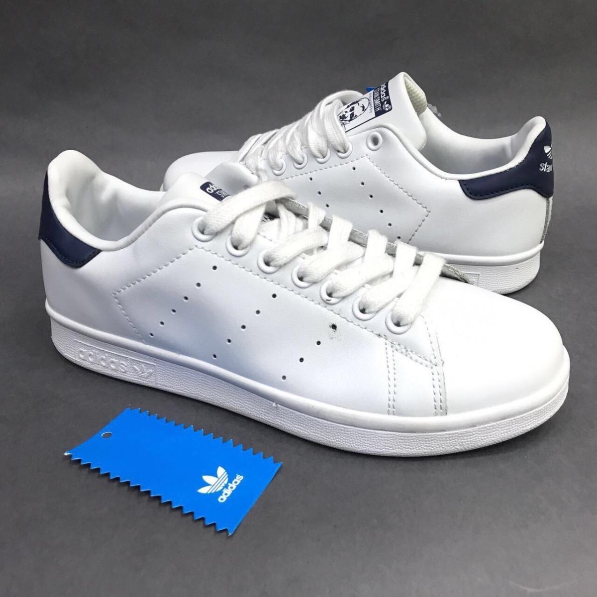 discount shop united states los angeles Tenis Zapatillas adidas Stan Smith Blanca Azul Hombre Envio