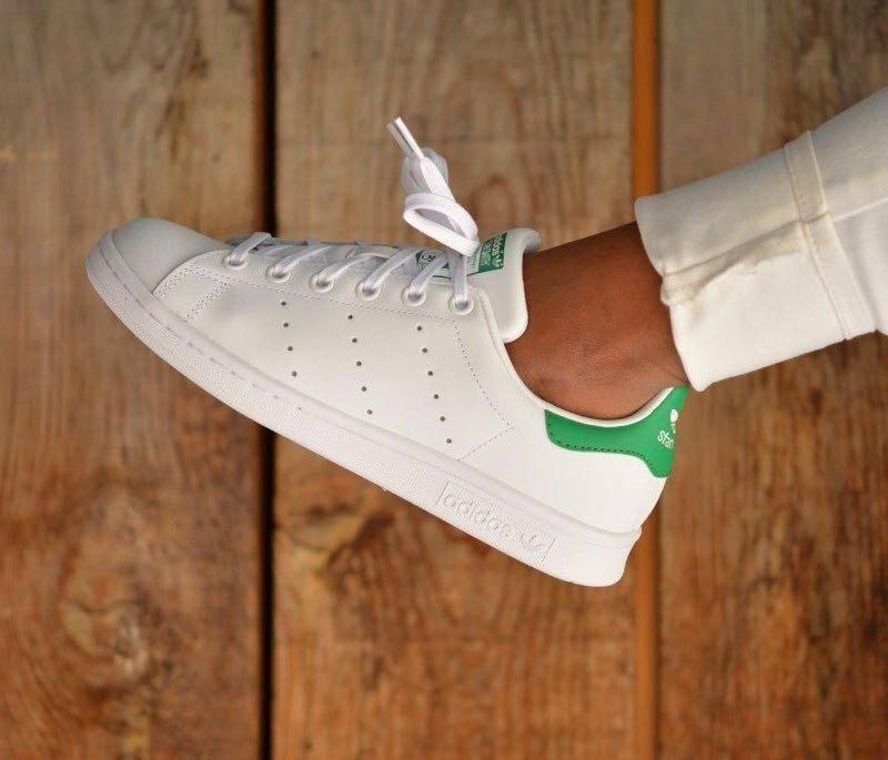 Tenis Zapatillas adidas Stan Smith Blanca Verde Hombre Env G