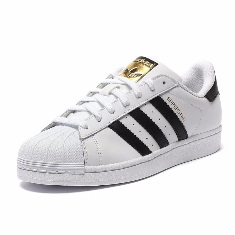 Tenis Zapatillas adidas Superstar Blanca Negra Mujer Env Gr