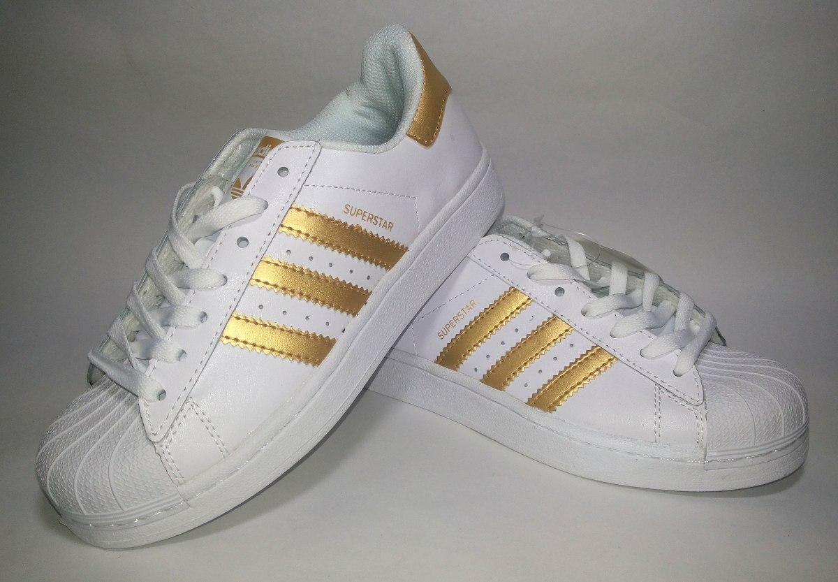 Adidas Superstar Rayas Doradas