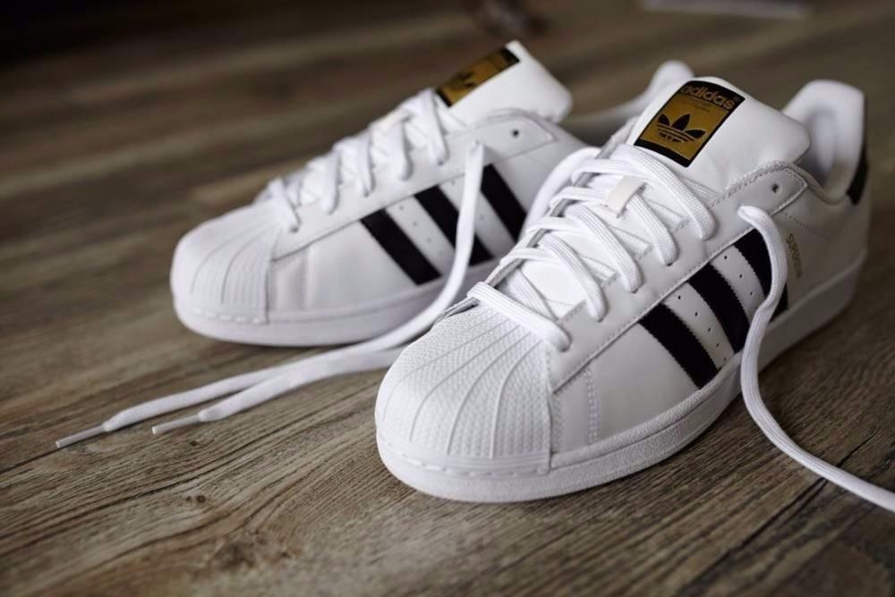 Tenis Zapatillas adidas Superstar Niños Niñas Blancas.