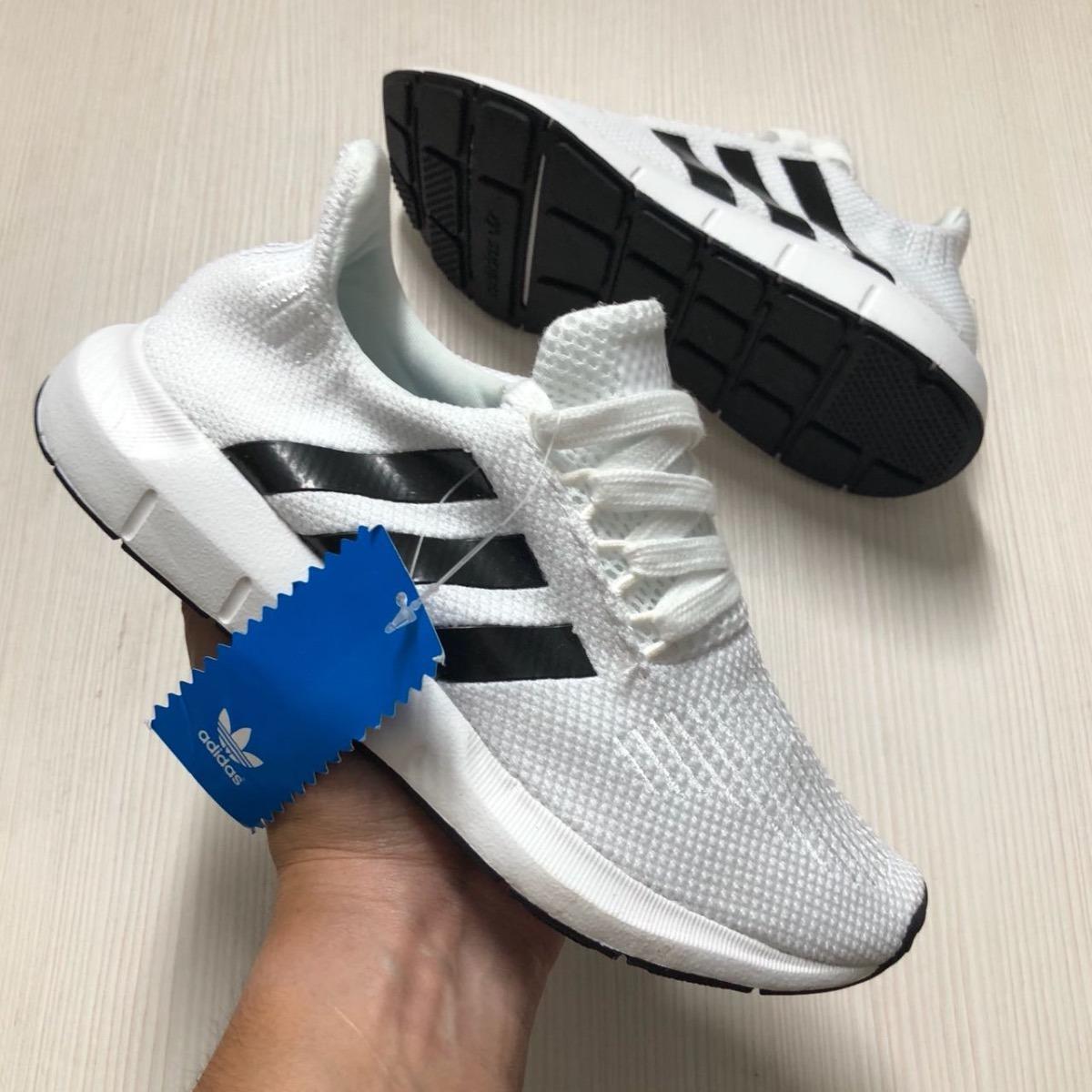 zapatillas adidas blancas y negras mujer