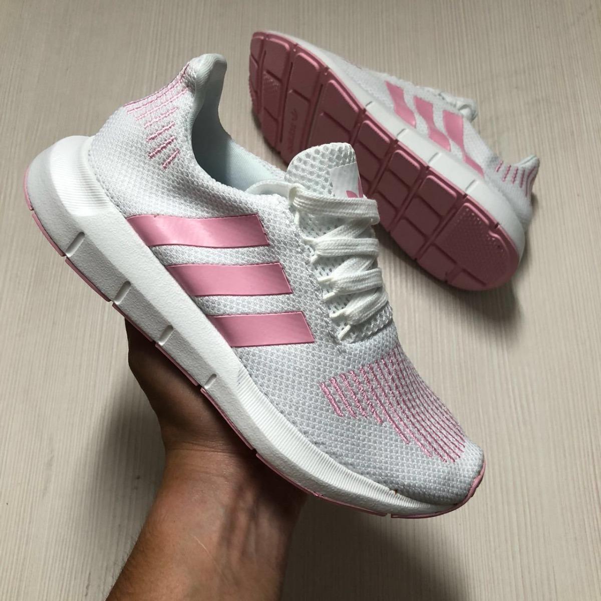 27e7369a24b85 tenis zapatillas adidas swift run blanca rosada mujer env gr. Cargando zoom.