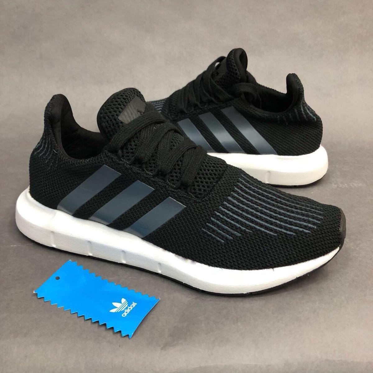 zapatillas adidas negro y gris