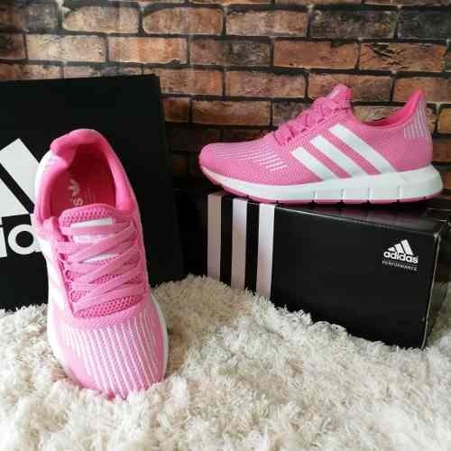Tenis Zapatillas adidas Swift Run Rosada Blanca Mujer Env Gr ... a742540ee6454