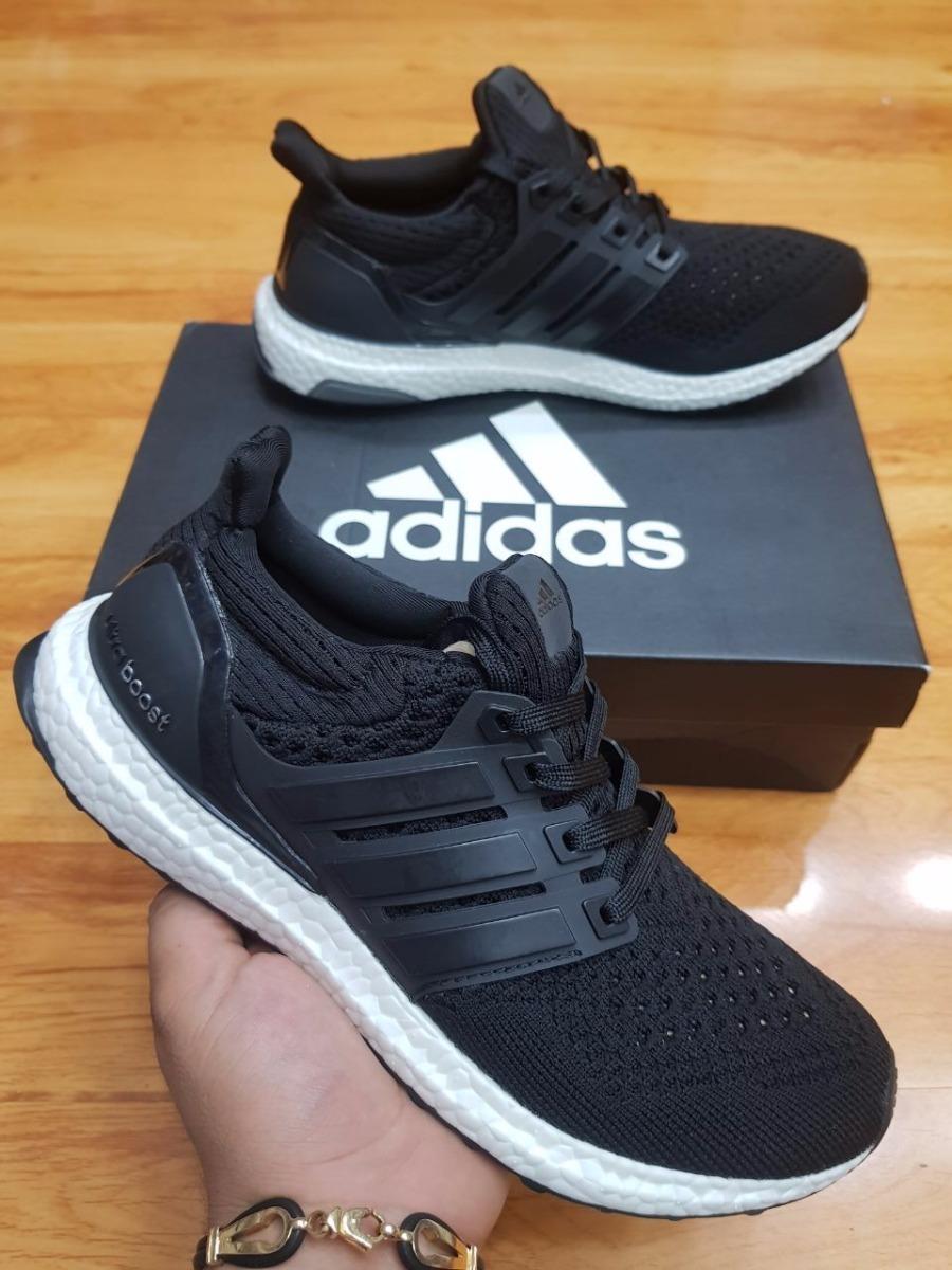 new style 545d4 48f78 Adidas Ultra Boost X zapatillas de running para mujer negro naranja