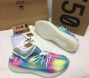 Tenis Zapatillas adidas Yeezy Boost 350 V2 Rainbow Mujer