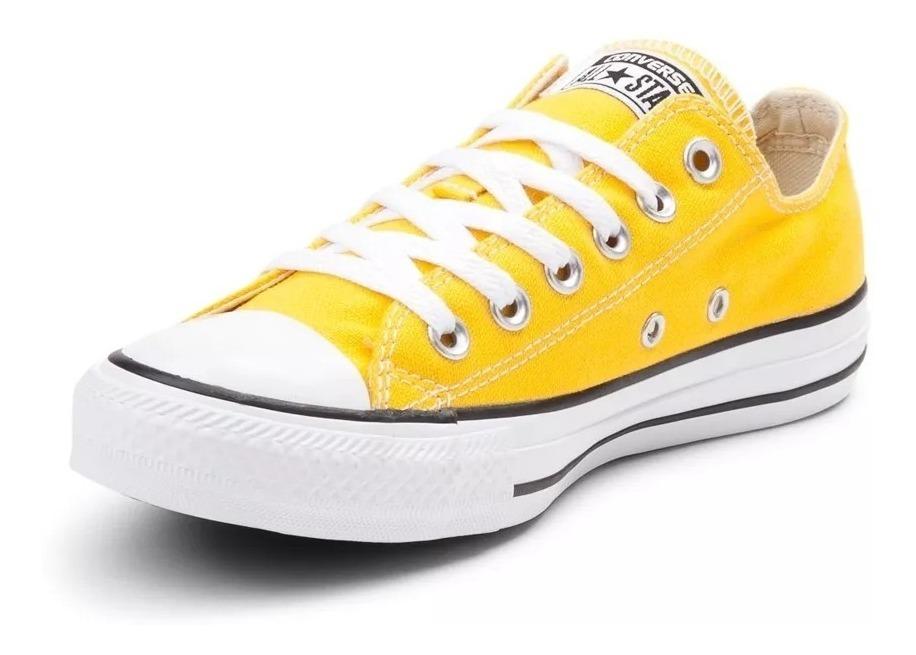 zapatillas converse mujer all star amarillas