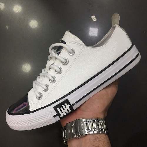 zapatillas converse cuero blancas mujer