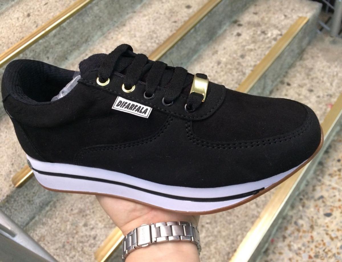 45165626ac4 tenis zapatillas deportivas negras a la moda para mujer. Cargando zoom.