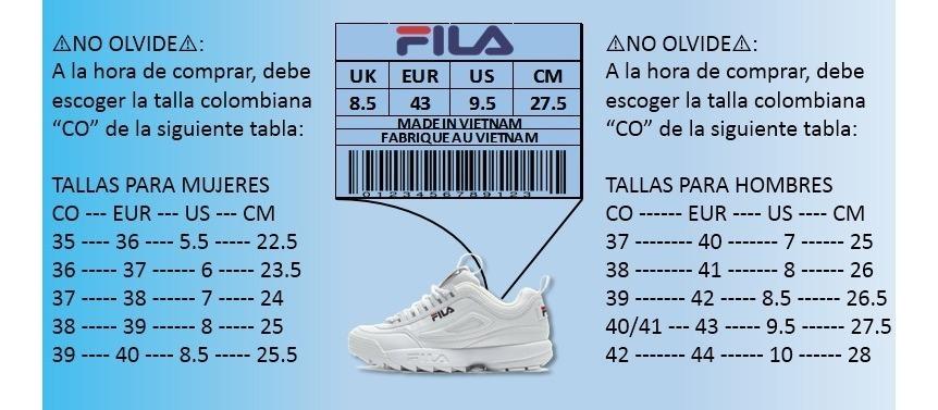 Disruptor Rql354aj Tenis Blanca Envío Hombre Fila Zapatillas Gratis J31clFKT