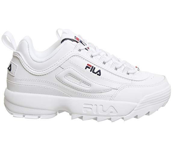 Mujer Blanca Tenis Disruptor Rosada Fila Low Zapatillas ny8PwvN0Om