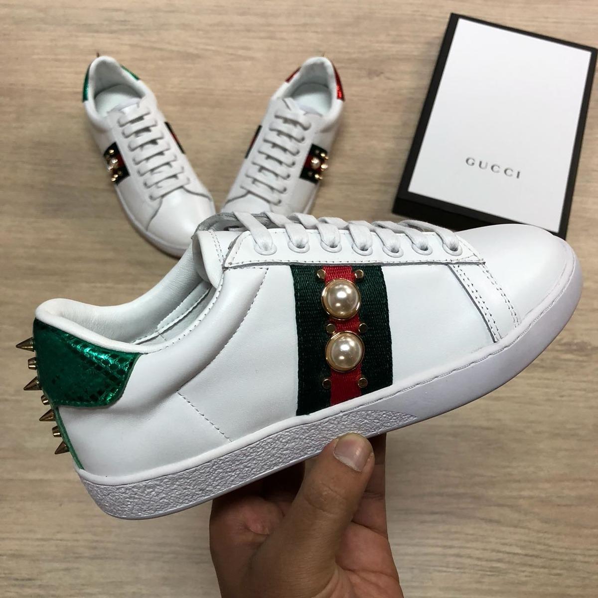 4ee3ddeb7 Tenis Zapatillas Gucci Hombre Y Mujer - $ 310.000 en Mercado Libre
