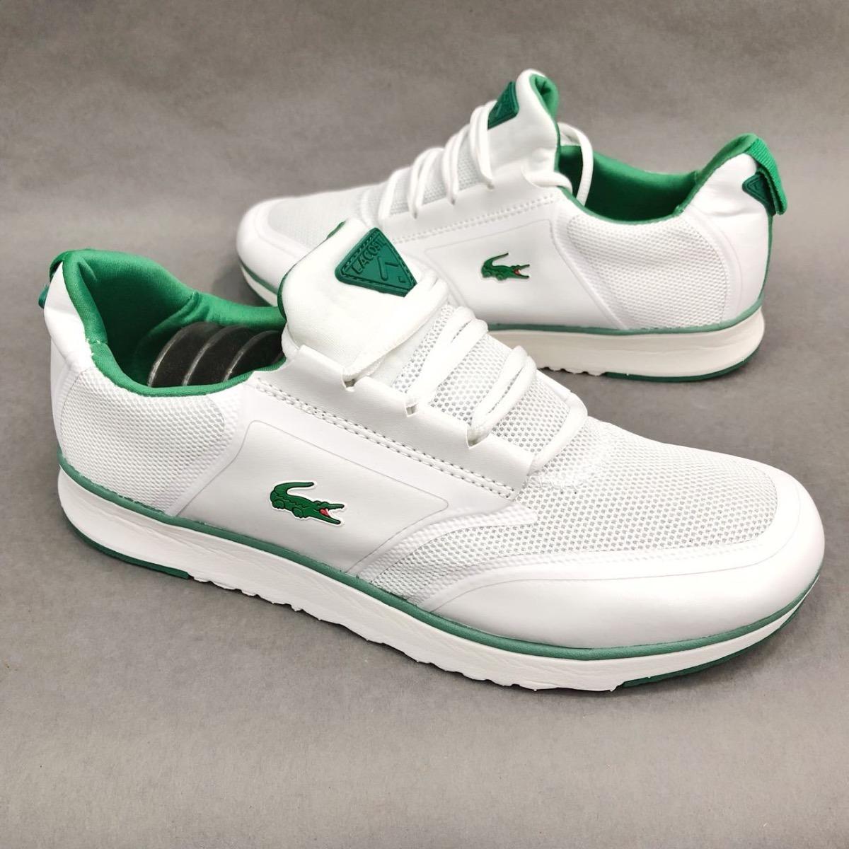 3e81398a986 tenis zapatillas lacoste sport 78 blanca verde hombre env. Cargando zoom.
